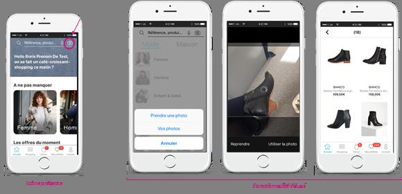 recherche visuelle - intelligence artificielle - La Redoute