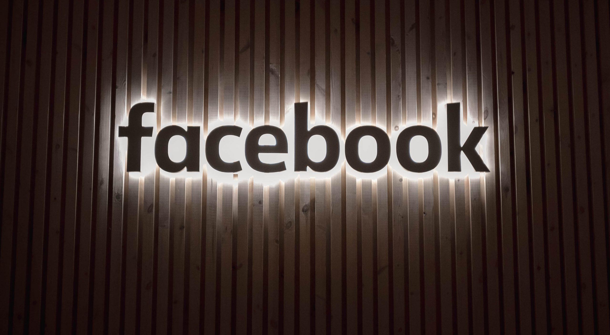 Facebook panneau lumineux